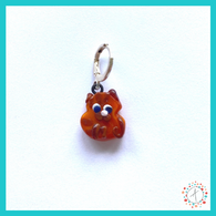 Orange Tabby Cat Stitch Marker / Progress Keeper / Earring