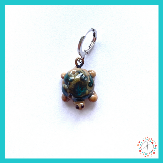Turtle Stitch Marker / Progress Keeper / Earring