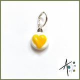 Yellow Heart Stitch Marker / Progress Keeper / Earring