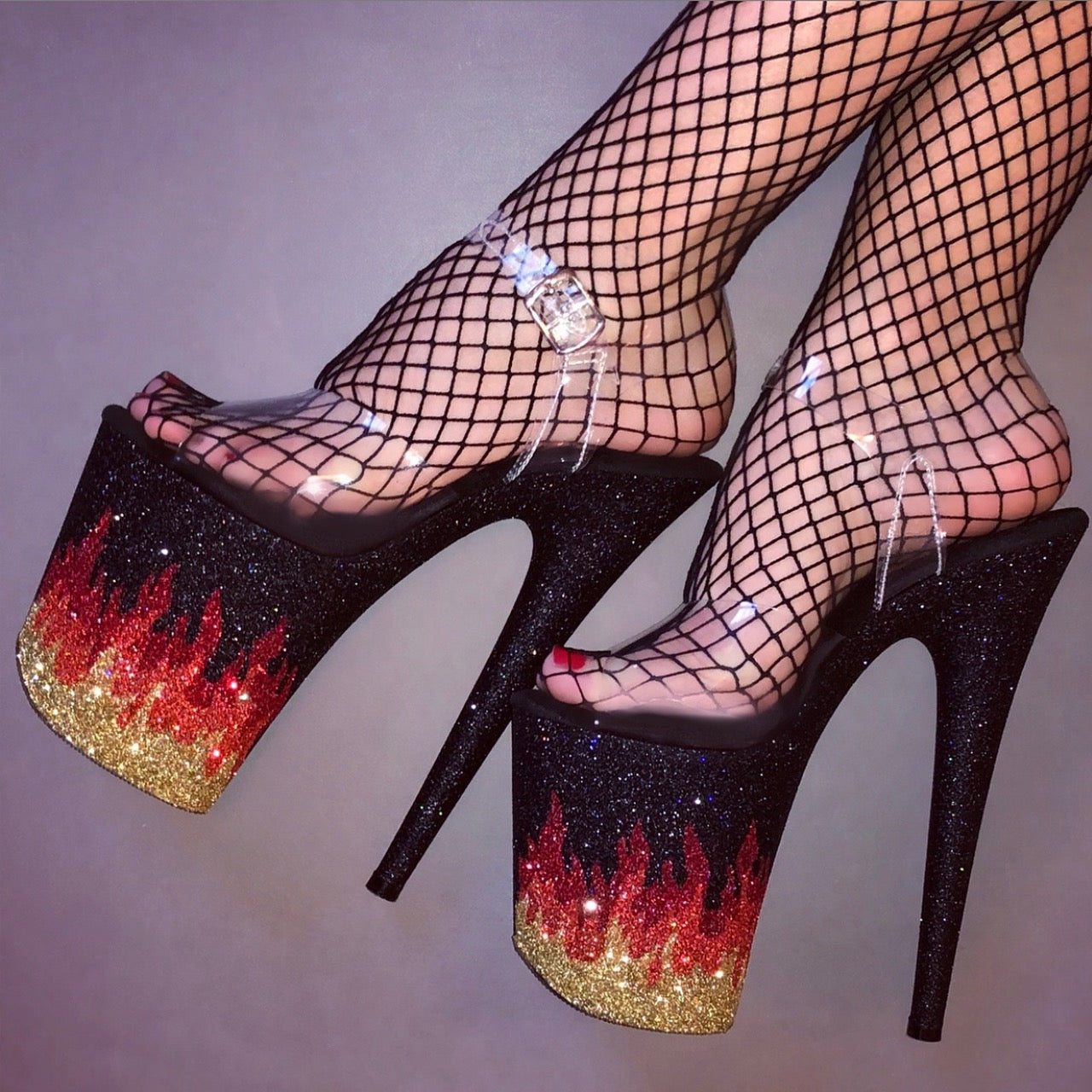 Heels on Fire ~ONLY available at www.HeelBangers.com