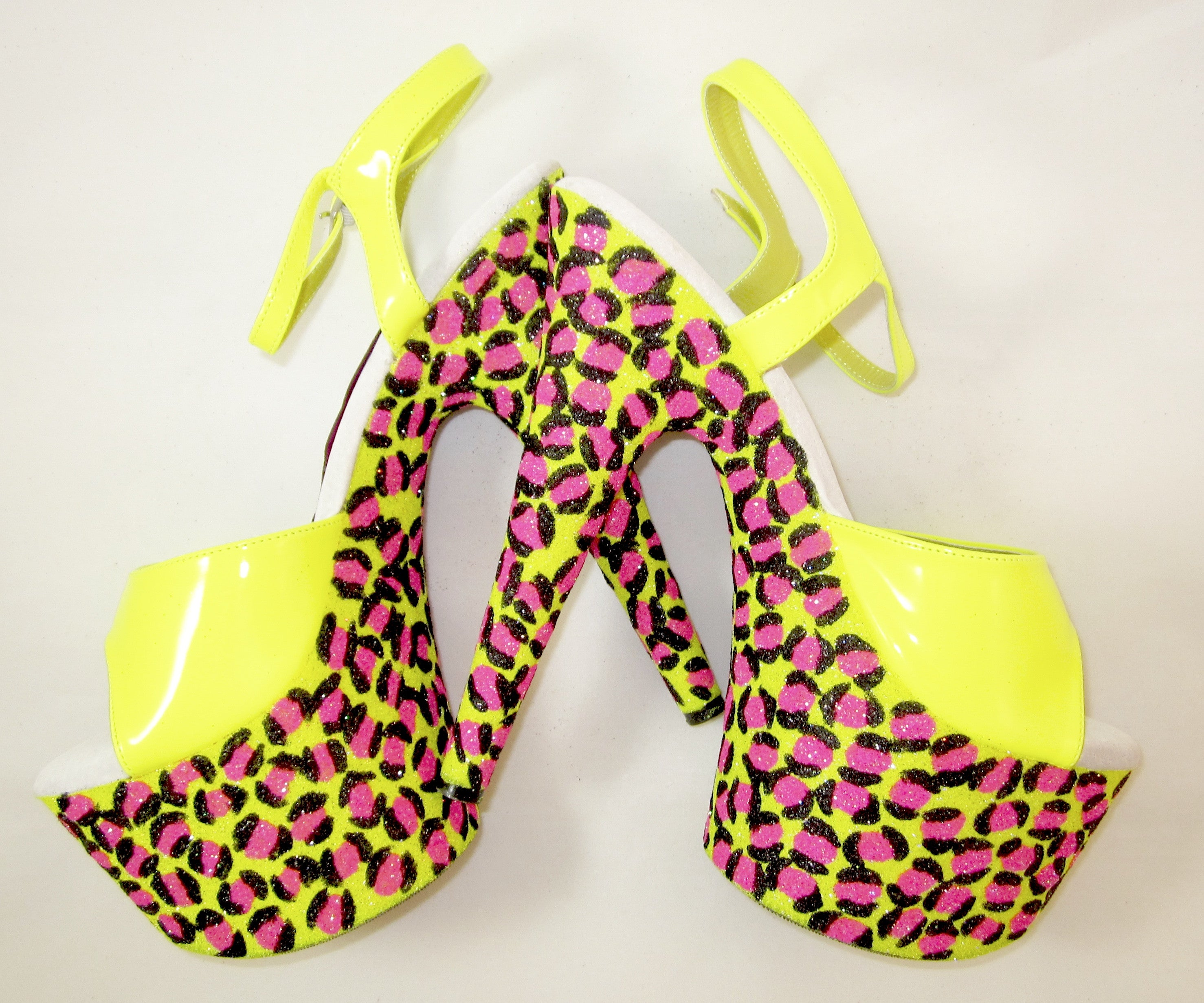 "7"" Jungle Leopard Glitter Heels"