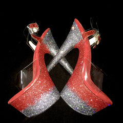 "7"" Peaky Blinders Red Right Hand VEGAN Glitter Heels"