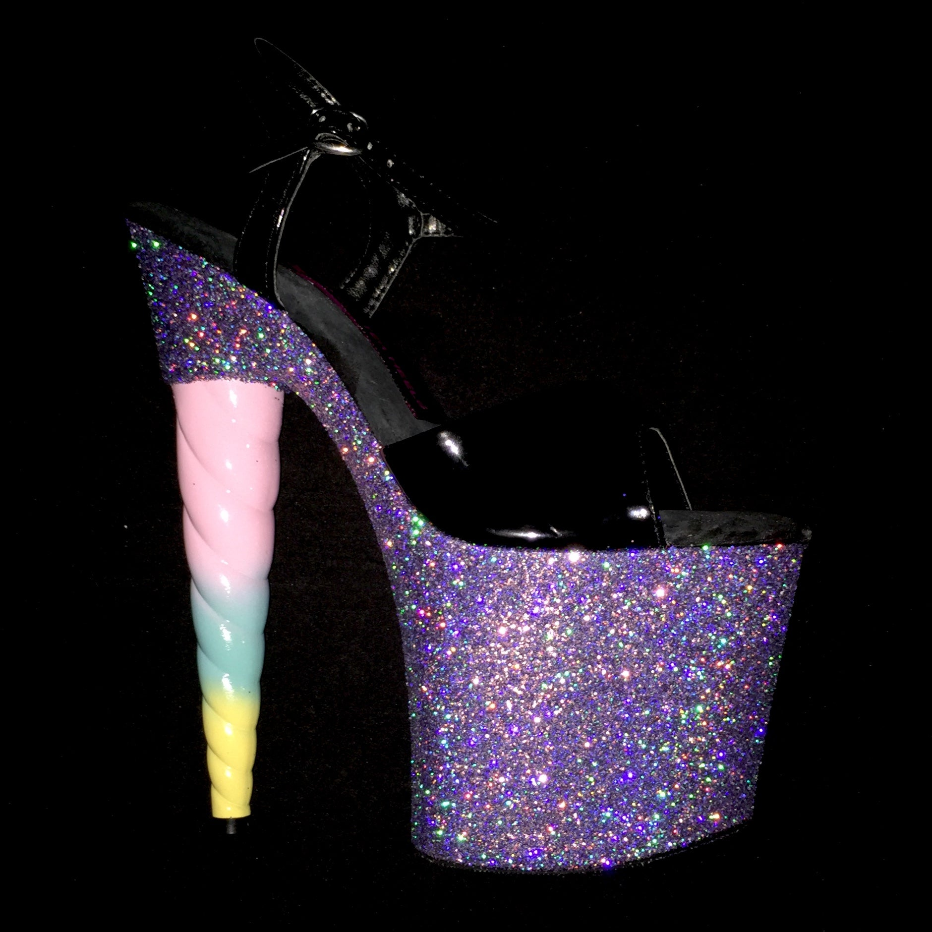 "7.5"" Sweet Pea Unicorn Soul Series -Limited Edition Glitter Heels"