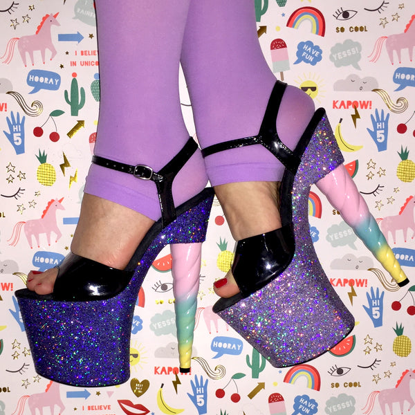 "7.5"" Iris Unicorn Soul Glitter Heels -Limited Edition"