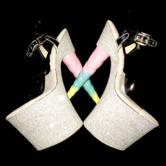 "7.5"" Cloud 9 Unicorn Soul -Limited Edition Glitter Heels"