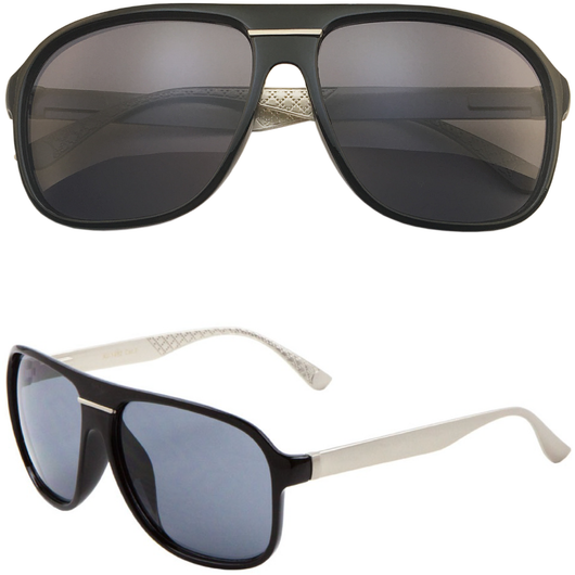 Aviator Sunglasses with Metal Legs