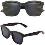 Classic Sunglasses with Flat Color Mirror Lens