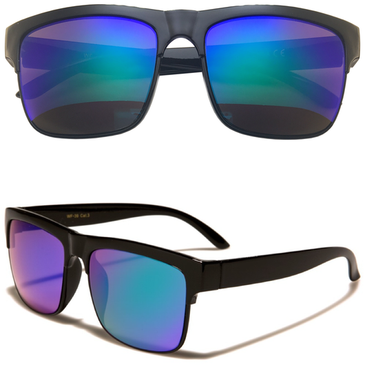 Horned Rim Sunglasses with Color Lens