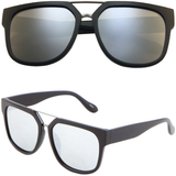 Horned Rim Sunglasses with Metal Bridge