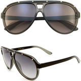 Aviator Sunglasses with Metal Studs