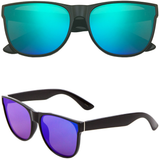 Horned Rim Sunglasses with Flat Color Lens