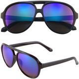 Aviator Sunglasses with Mirrored Color Lens