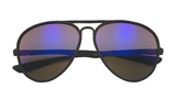 Aviator Sunglasses with Rubberized Frame and Color Lens