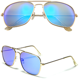 Aviator Sunglasses with Color Mirror Lens