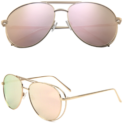 Aviator Sunglasses with Color Lens