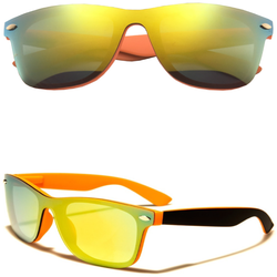 Horned Rim Sunglasses with Color Frames and Color Lens