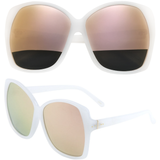 Oversized Butterfly Sunglasses with Color Lens