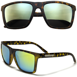 Horned Rim Animal Print Sunglasses with Color Lens