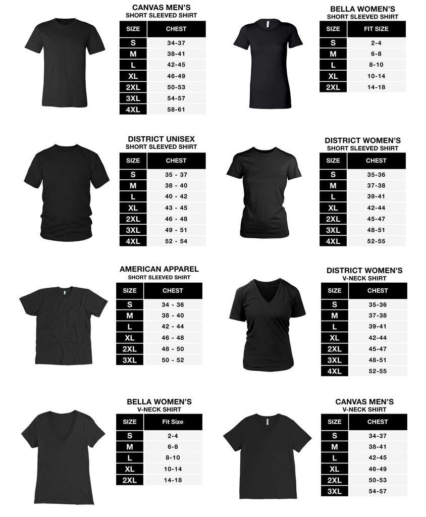 Tops sizing chart #2