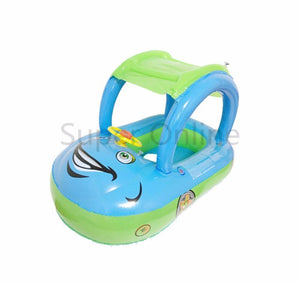 Baby's Shaded Car Inflatable Pool Float