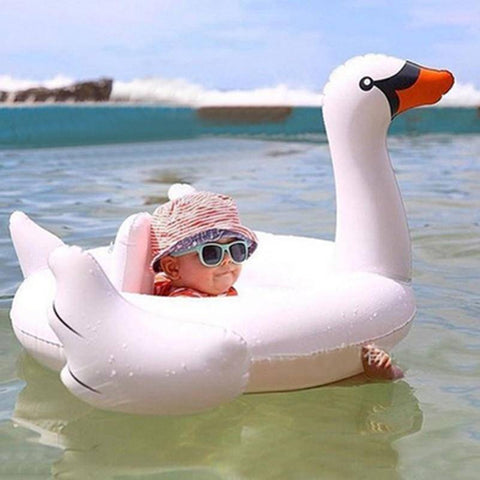 Pool Floats - Baby's Swan Inflatable Pool Float