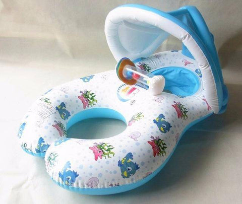 Pool Floats - Mother & Baby Sunshade Inflatable Pool Float
