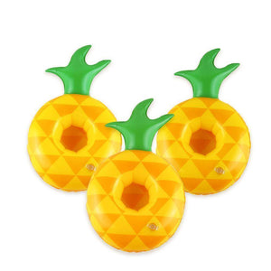Pool Floats - Pineapple Drink, Cup Holder Inflatable Pool Float