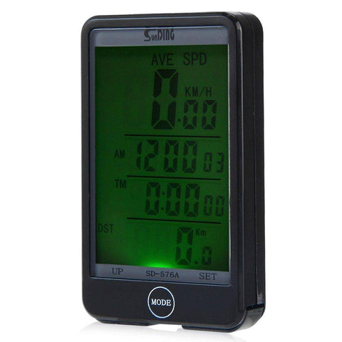 Image of Sporting Accessories - LCD Backlit Bicycle Speedometer