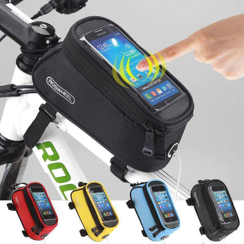 Image of Sporting Accessories - Waterproof Cycling Crossbar Holder With Touch Screen Window