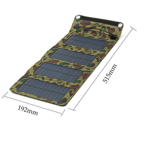 Image of Technology - 7W Portable Solar Panel Smartphone Charger