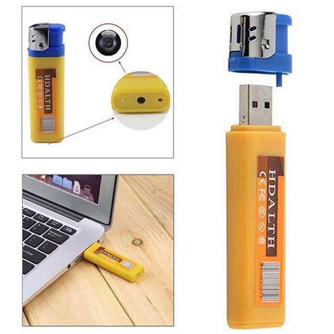 Image of Technology - Hidden Camera Lighter (Yellow)