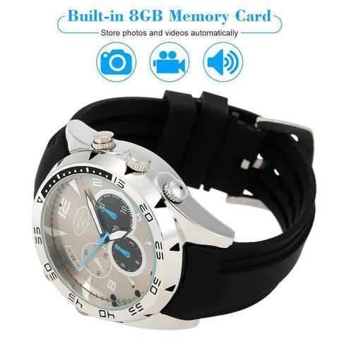 Technology - Hidden Camera Spy Wrist Watch (8GB, HD 1080P)