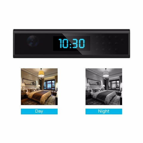 Technology - Wide Bar Hidden Camera Clock