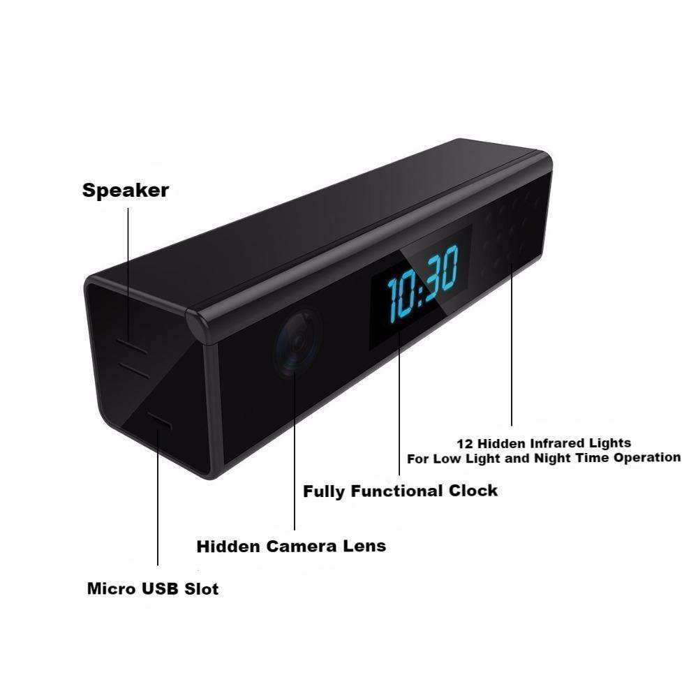 Technology - Wide Hidden Camera Clock