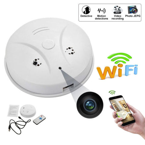 Image of Technology - WiFi Hidden Camera Smoke Detector