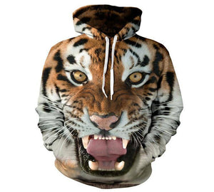 Unisex Clothing - 3D Tiger Hoodie
