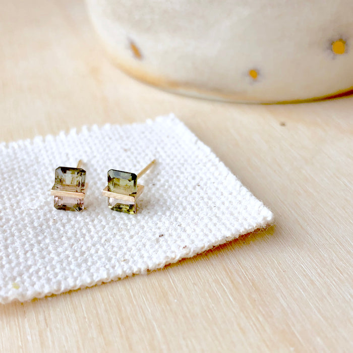 Januka Bi-Color Tourmaline Earrings