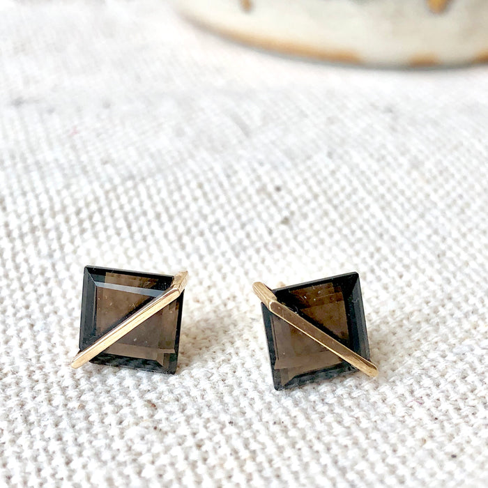 Januka Smoky Quartz Earrings