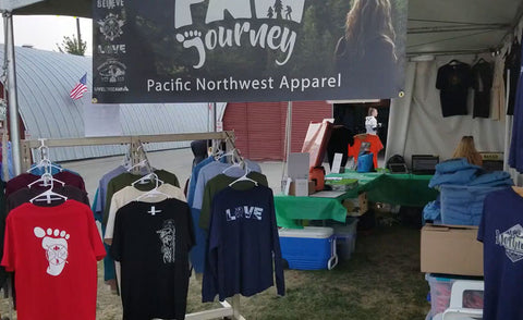 North Idaho Fair Booth 2018 - Before Opening
