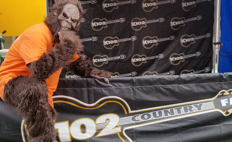 Bigfoot at the K102 booth