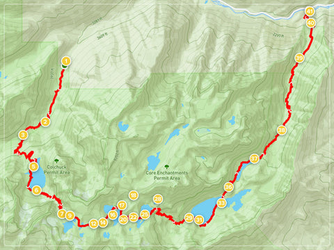 The Enchantments Trail Map - PNW Life