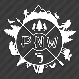 "Around the PNW 8"" Decal"