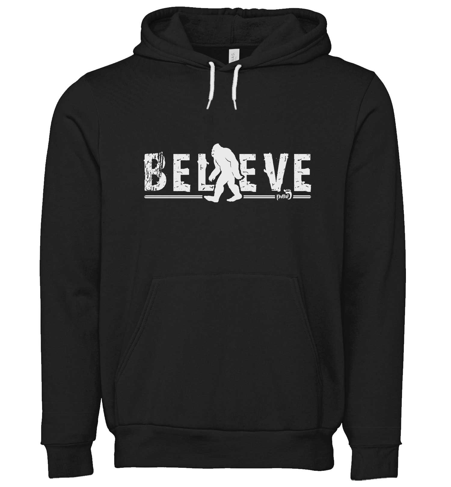 Bigfoot Believe - Sweatshirt - Hoodie - Heather Maroon - Front - PNW Journey
