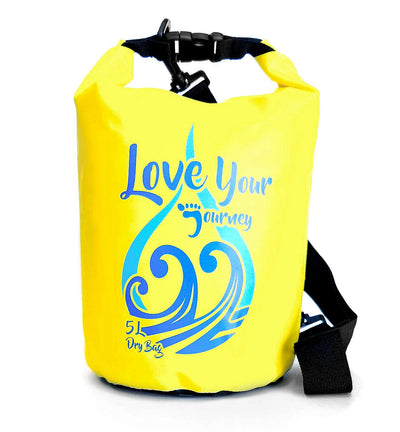 PNW Elements - 5L Bag - Dry Bag - Yellow - Front - PNW Journey