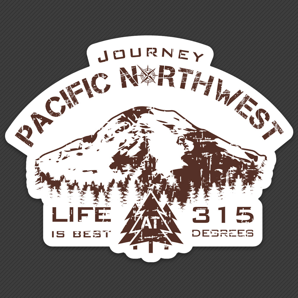 PNW Sticker - 315 Degrees Rainier