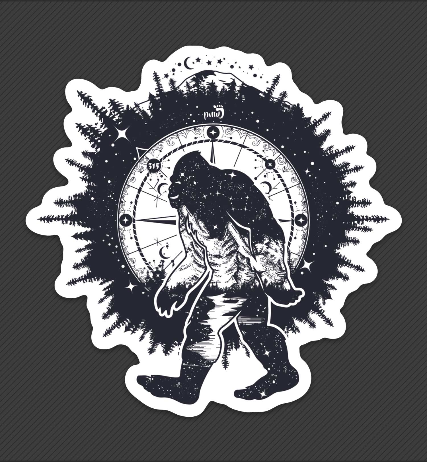 PNW Sticker - Bigfoot Nights