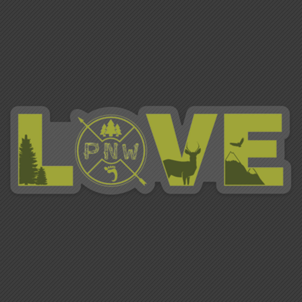 PNW Sticker - Pacific Northwest Love - Green