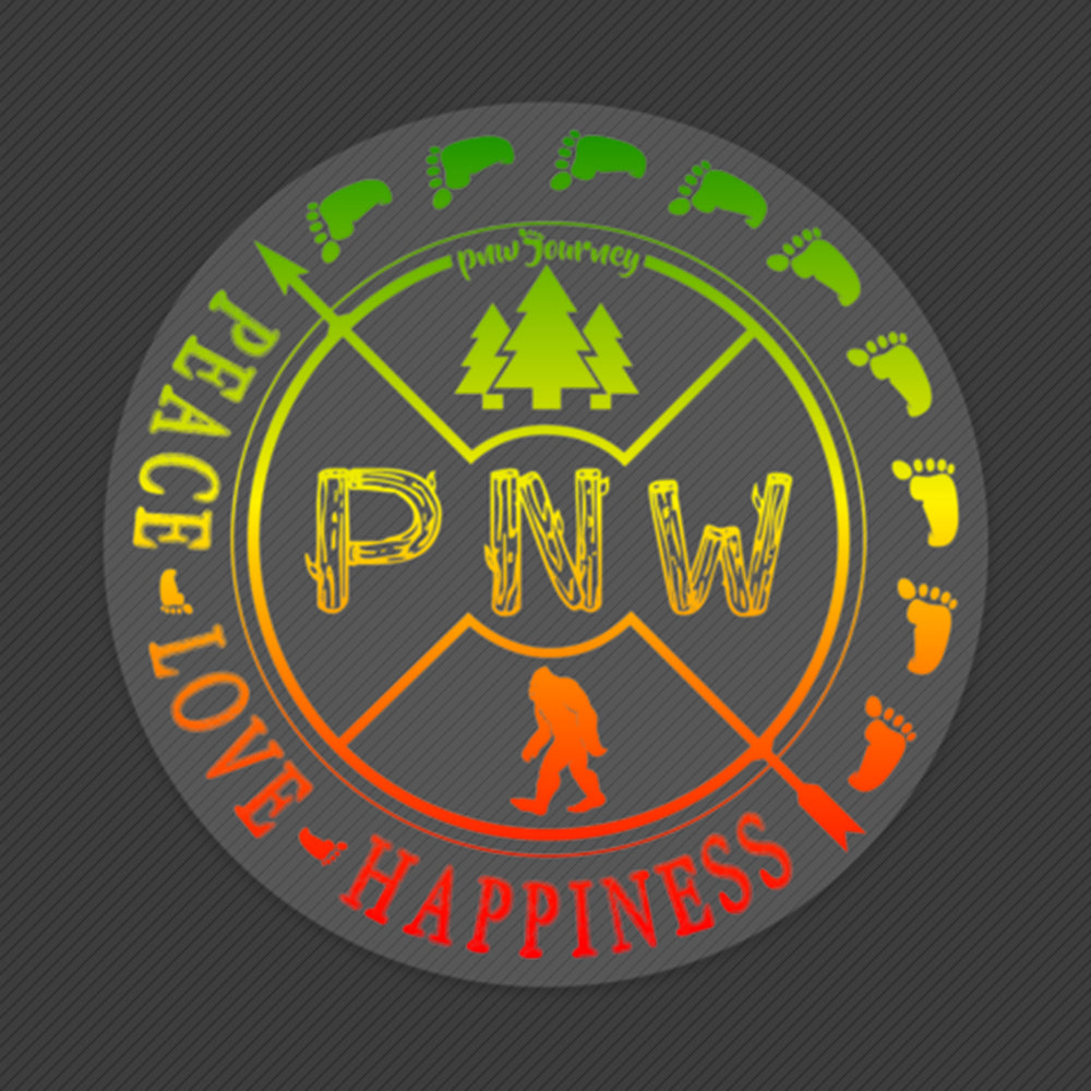 PNW Sticker - Rasta PNW