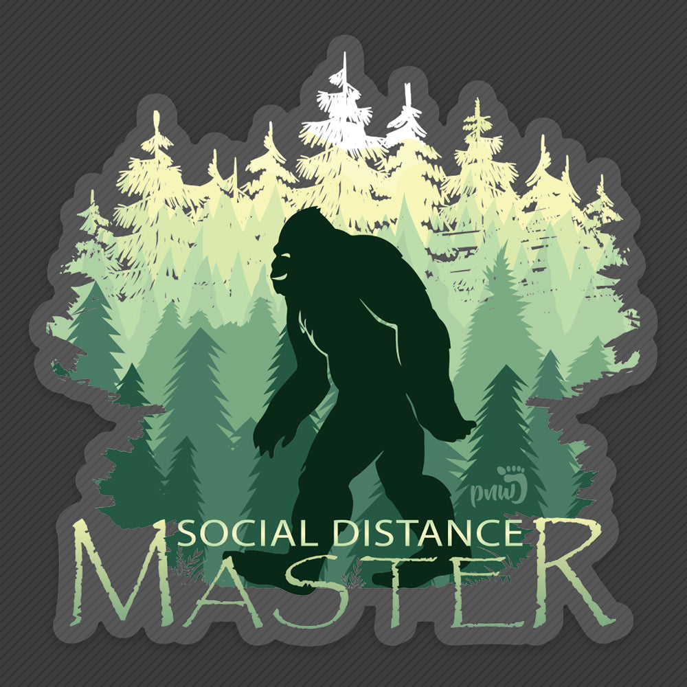 Social Distance Master - Sticker - PNW Journey