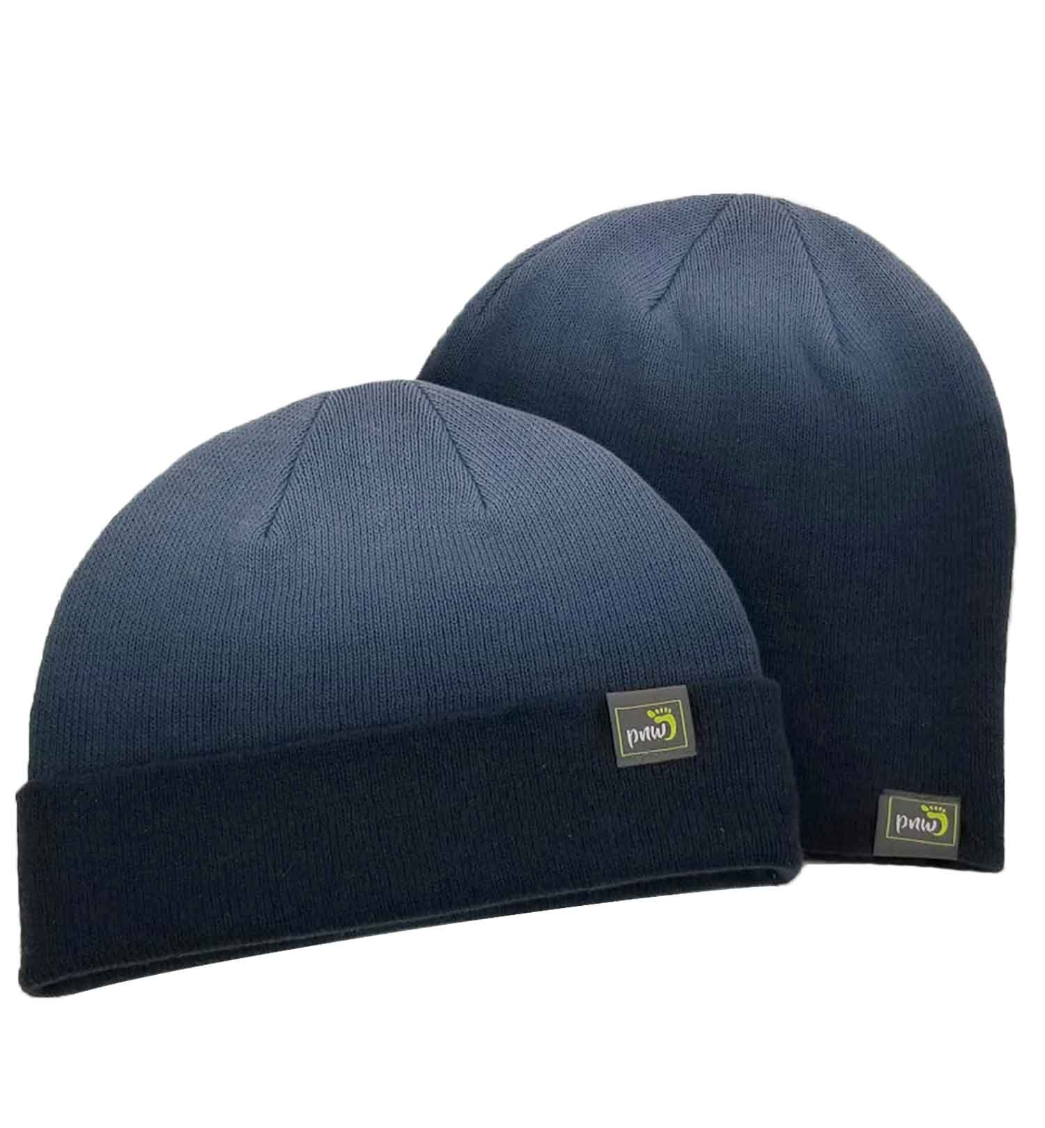 PNW Beanie -  2 In 1 Color Fade - Navy Combo Image